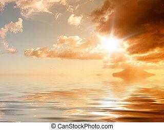 oceano tramonto