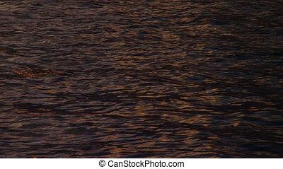 Ocean's waters on sunset