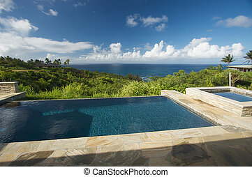 Oceanview Pool - Pool and Hot Tub Overlooking the Ocean