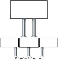 ocel, dát, plakátovací tabule, ilustrace, makets, 3, vektor, inzerce, 6, 2, desetidolarová bankovka, díl, sloupec