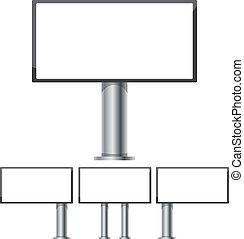 ocel, dát, plakátovací tabule, ilustrace, makets, 3, vektor, inzerce, 6, desetidolarová bankovka, díl, sloupec, 1