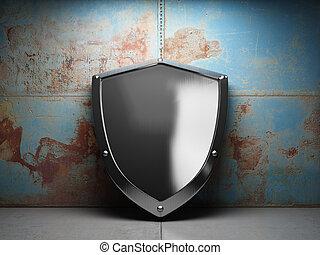 ocel, ozdobit iniciálkami, chránit