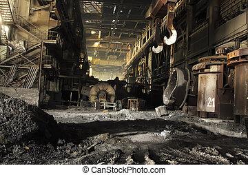 ocel, továrna