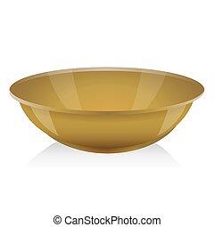 Ocher bowl vector isolated