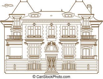 Vector illustration of a mansion