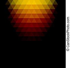 Ocher gradient geometric background. - Ocher gradient ...