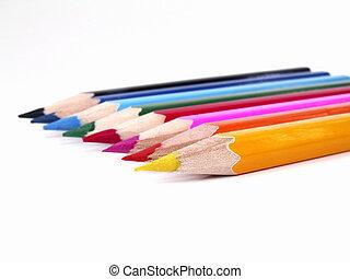 ocho, lápices