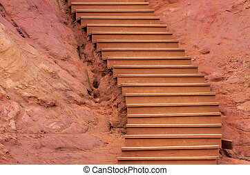 ochres of Roussillon and stairs
