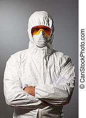 ochronny, naukowiec, nosić