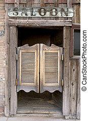 ocidental, taverna, portas