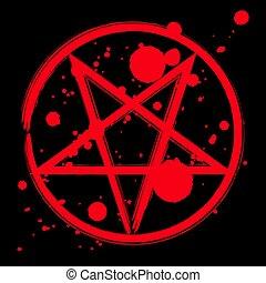 ockult, symbol, pentagram