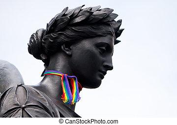 o'connell, orgulho, dublin, monumento