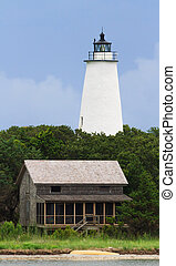 ocracoke, 光, 同时,, 海滩房子