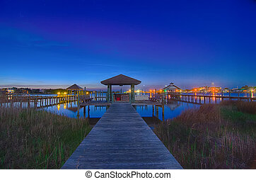 ocracoke island at night scenery - ocracoke island at night