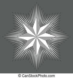 octagonal star cockade