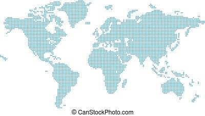 octagons, lägenhet, kartlagt fond, värld