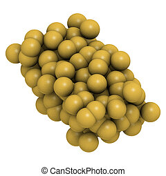 (octasulfur, enxofre, s8), estrutura, cristal