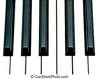 octave keys - piano keys octave close up