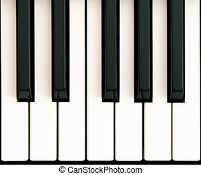 Octave on piano - One octave on piano keyboard
