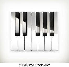 Octave, piano keys vector