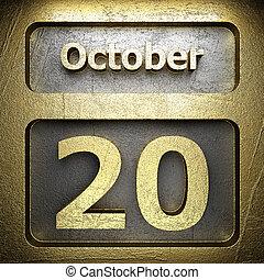 october 20 golden sign