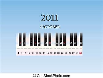 october 2011 ( piano keys )