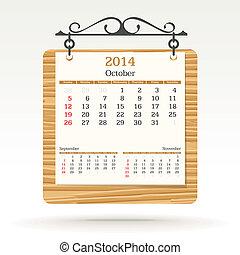 october 2014 - calendar