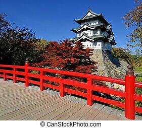 Hirosaki Castle - October 27: Hirosaki Castle in Hirosaki, ...