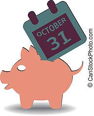 October 31 savings - illustrations on October 31 arriving in...
