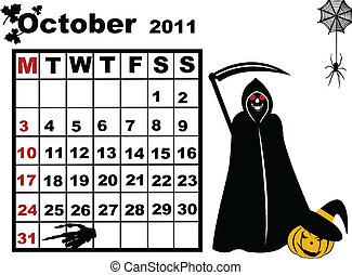 October calendar 2011