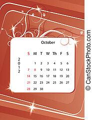 October calendar 2012