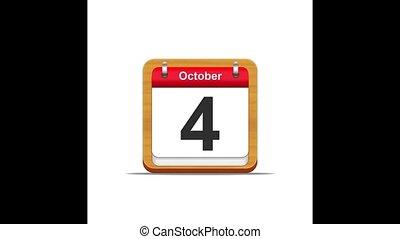 October calendar.