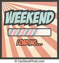 october - weekend pop art, illustration in vector format
