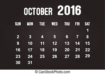 October Month 2016
