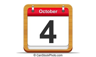 October. - October calendar.