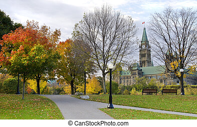 October Politics - The Canadian Parliament seen from Major's...