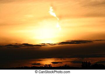 October Sunrise - October sunrises in Colorado often turn...