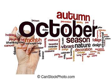 October word cloud