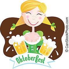 octoberfest, (bavarian, girl)