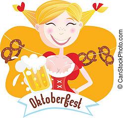 octoberfest, (bavarian, woman)