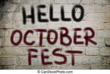 octoberfest, conceito, olá