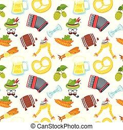 Octoberfest seamless pattern