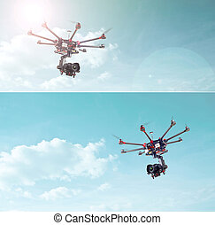 Octocopter, copter, drone - Proffeseonalny oktokopter with ...