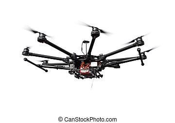 octocopter, helicóptero, quadrocopter