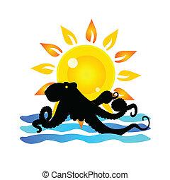octopus and summer symbol