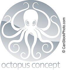 octopus, cirkel, conceptontwikkeling