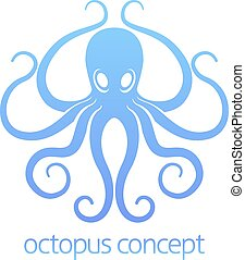 Octopus concept design - An abstract illustration of an...