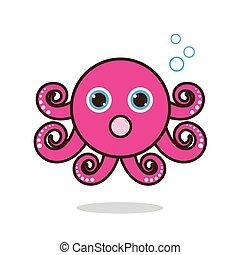 Octopus cute cartoon