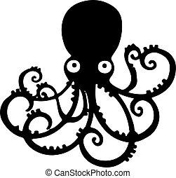 octopus icon isolated on white background