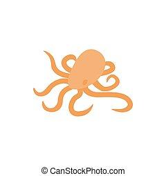 Octopus icon, isometric 3d style